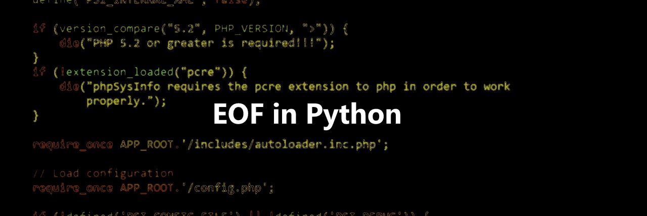 python end of file