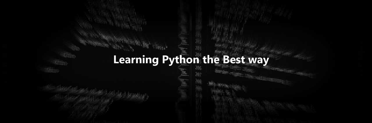 Learning python the best way