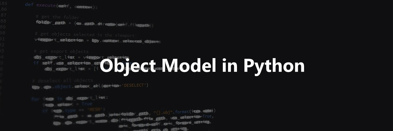 object model in python